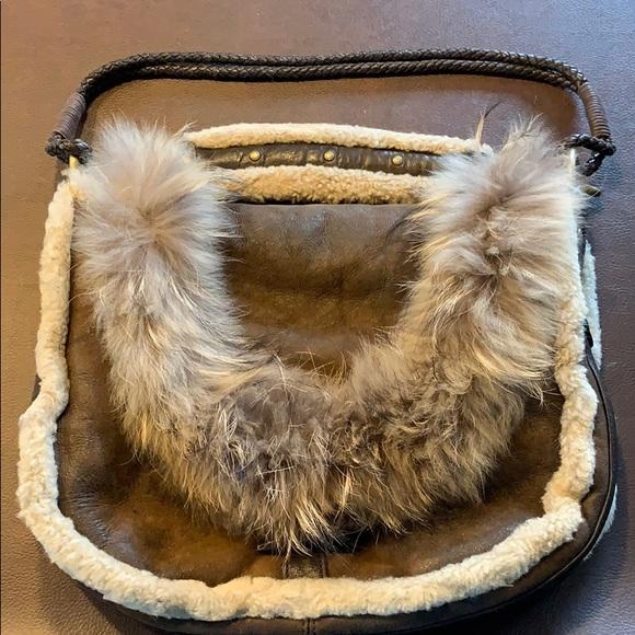 Andrew Marc Handbags - Andrew Marc Fur & Suede/Shearling Handbag